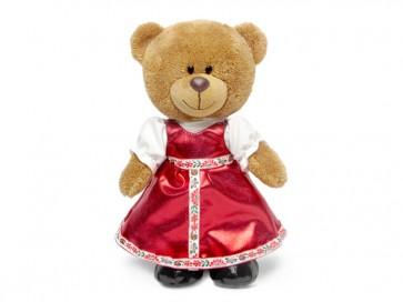 Л Медведь Оливия в рус наряде 24см муз, 8788А