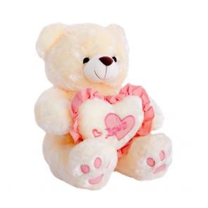 Медведь персиковый длинный с сердцем,2195/37