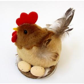 п Петух в гнезде+яйца, 16Е-80719