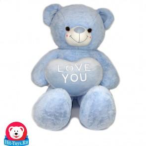 Медведь сердц, дл.ноги (мятный, персиковый, голубой), 0006-80