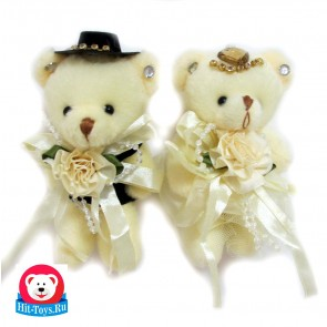 Букет Медведь Жених и невеста,9001