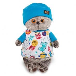 бб Басик в футболке космос и шапочке, Ks25-091