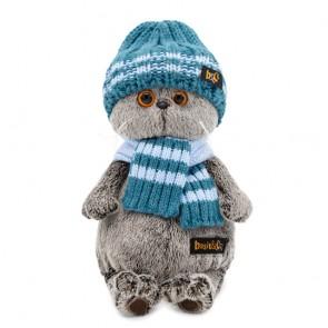 бб Басик в голубой вяз шапке и шарфе, Ks30-105