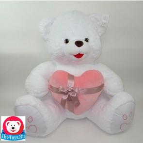 Медведь Сердце велюр, 1-4110-80