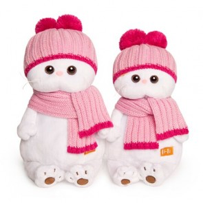 бб Ли-Ли в роз шапке с шарфом, LK24-022