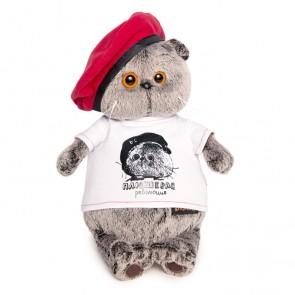 бб Басик в футболке с принт Плюш револ, Ks30-074