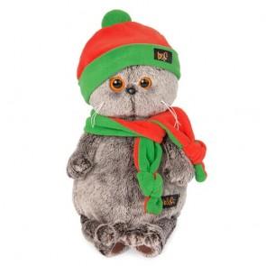 бб Басик в оранж- зел шапке и шарфе, Ks25-087