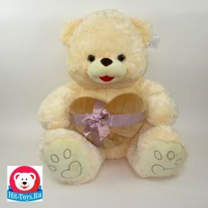 Медведь Сердце велюр, 1-4110-60