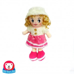 Кукла шапка платье мех, 51535-35
