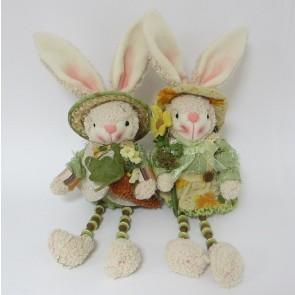 Заяц цветы зеленая  одежда,цена за 1 шт.,54321
