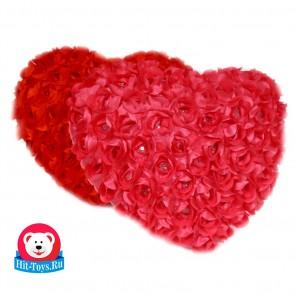 Сердце розы атл+ пушистое Love.,1436-36х30