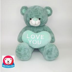 Медведь сердц, дл.ноги (мятный, персиковый, голубой), 0006-70