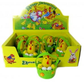 п Курочка с цыпленком и яйцом в корзинке, уп. 9шт,16009