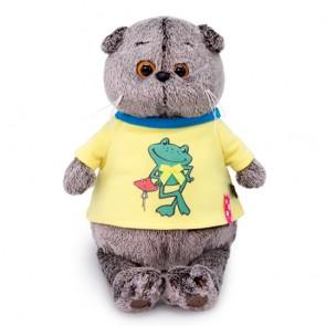 бб Басик в футболке с принт Лягушонок, Ks22-134