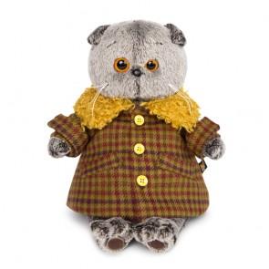 бб Басик в пальто с желт мех воротником, Ks30-086