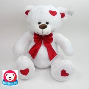 Медведь белый красн бант, 9-3032-38