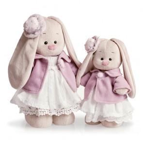 БП Зайка Ми в фиолет пальто и бел платье мал StS-033
